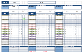 Workout Schedule Template Excel - April.onthemarch.co