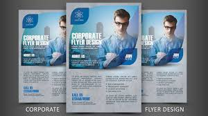 How To Design A Flyer In Photoshop Print Design Corporate Flyer Photoshop Tutorial
