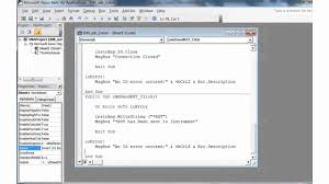 Visual Basic For Excel Simple Example Program To Control