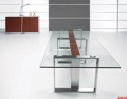 plain glass office table modern desk with topoffice steel foot