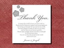 Wedding Invitation Thank You Card Wording