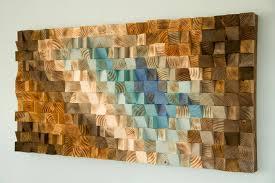 modern wood wall art wood mosaic geometric art art glamour