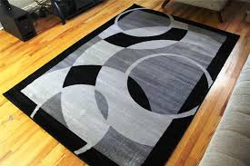 image of black and gray area rug 8x10