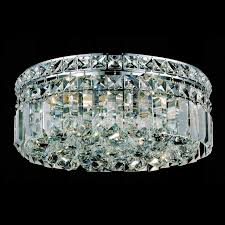 lighting cute ceiling mounted chandelier 0 0001631 12 bossolo transitional crystal round flush mount polished chrome