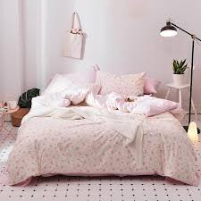 cherry blossoms girls duvet cover set 100 cotton pink bed sheet pillow cases pink duvet cover twin queen king size bedding sets duvets covers cotton