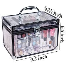 shany carry all trunk professional makeup kit eyeshadow pedicure manicure gift set 6 cash back shany carry all trunk professional makeup kit