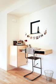 modern floating desk home office contemporary with trash can square window mid century top