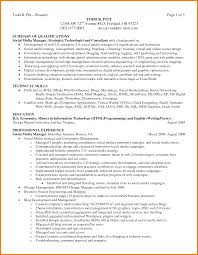 Resume Summary Of Qualifications Example Best Example Resume