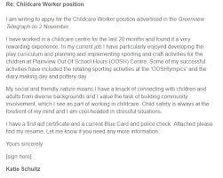 Childcare Worker Cover Letter Sample Cover Letter Samples