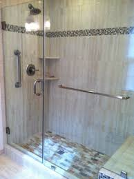 shower door towel bar frameless and panel with through glass towel bar for glass shower door l94