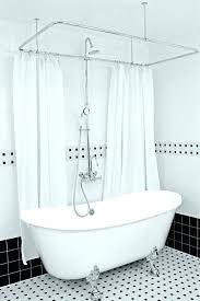 decoration bathtub shower curtain rod stylish best tub ideas on clawfoot