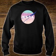 Sweater Logo Design Awesome Nasa Pastel Rainbow Classic Logo Design Space Shirt