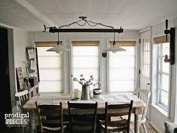 industrial style dining room lighting. Lighting : Industrial Style Dining Room Diy Farmhouse Chic Table Pendant Chairs Design Rustic Light Look P