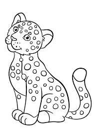 Jaguar Coloring Page Baby Pages Animal On Coloring Pages For Animals