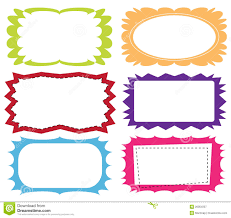Set Of Colorful Frames Stock Vector Image Of Cute Drawing 20054337