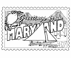 Small Picture Maryland State Stamp Coloring Page USA Coloring Pages