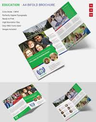 Free Two Fold Brochure Template Innovative Education A4 Bi Fold Brochure Template Free Premium