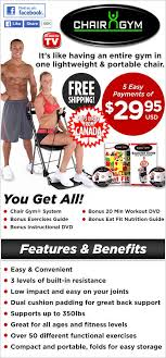 Chair Gym Exercise Chart Chair Gym Easy And Convenient Total Body Workout