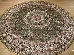 1 of 3free persian silk rugs 8 round rug green silk carpet circle rugs tabriz rug 8 x8