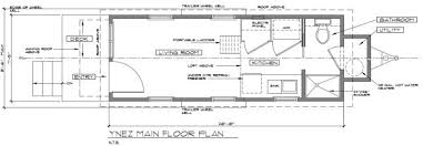 Small Picture ynez tiny house floor plan 2 600x209 Ynez Tiny House on Wheels by