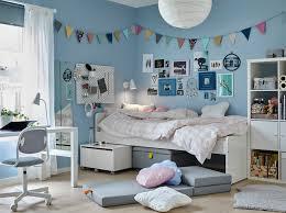 kid room ideas ikea. a tween bedroom with blue walls and white slÄkt bed items underneath beside kid room ideas ikea e