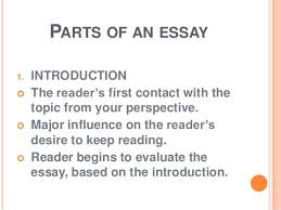 what is an essay parts of an essay