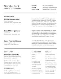 Traditional Resume Templates Best of Traditional Accountant Resume Templates By Canva