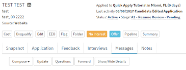 How To Request Candidate To Update Information Hirebridge