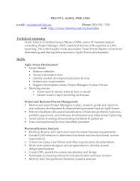 Master Resume 13 Printable Agile Scrum Resume Picture Large Size