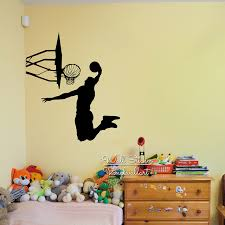 wall stickers decor basketball wall sticker basketball player wall decal diy removable
