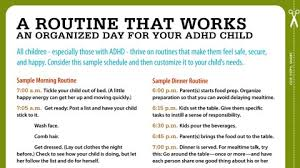 Adhd Morning Routine Chart Routines For Kids With Adhd Your Sample Schedule