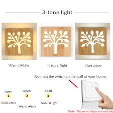 Modern Creative Christmas Tree Style Led Wall Light Nostalgic 12w Wooden Wall Lamp For Restaurant
