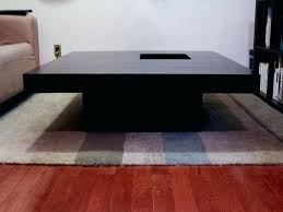 black solid wood coffee table the most large square dark wood coffee table concerning large black