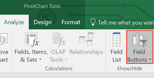 How To Hide Field Buttons In Pivot Chart How To Remove Pivottable Fields From Pivot Charts Sage