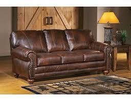 rustic leather living room furniture. Osmond Stationary Sofa Rustic Leather Living Room Furniture .