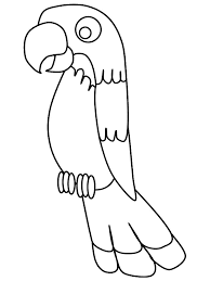 Parrot coloring page: print out on red construction paper and glue ...