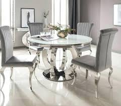 circular glass dining table set white round for 6 canada the furniture home improvement exciting alluring