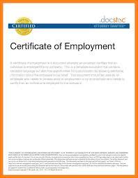 Employment Certificate Sample For Bank Loan New Sampl As Employment