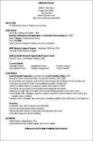Resume Sample Resume Objective For Accounting Position Best