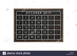 2019 October Calendar 2019 October Calendar Black Chalkboard With Wooden Frame Unique