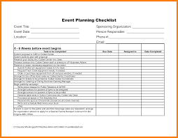 Event Planner Excel Event Checklist Template Excel Free Under Fontanacountryinn Com