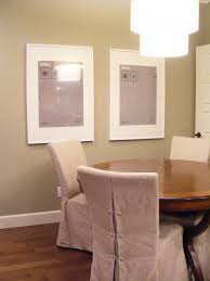 image of dining room chair seat slipcovers