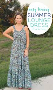 Summer Dress Patterns Unique Easy Breezy Summer Lounge Dress Pattern And Tutorial