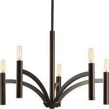progress lighting dr collection 5 light antique bronze chandelier
