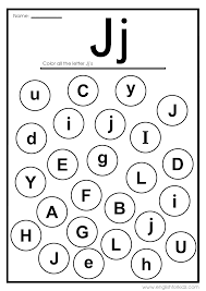 Letters and the alphabet worksheets for preschool and kindergarten. Letter J Worksheets Flash Cards Coloring Pages