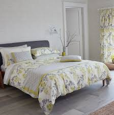 duvet cover yellow and grey