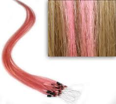 Light Pink Extensions 18 Light Pink Blonde Blend Micro Loop Ring Human Hair Extensions 10 Strands