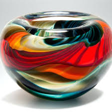 decorative glass bowls and plates