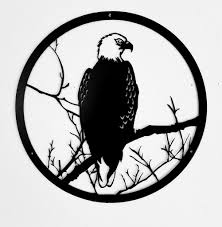 american eagle wildlife scene metal wall art silhouette horseflymetalart  on american eagle metal wall art with eagle wildlife metal art scene wildlife or animal wall art
