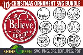Grinch days till days til christmas svg png dxf eps. Christmas Ornament Bundle Monogram Round Graphic By Shinegreenart Creative Fabrica